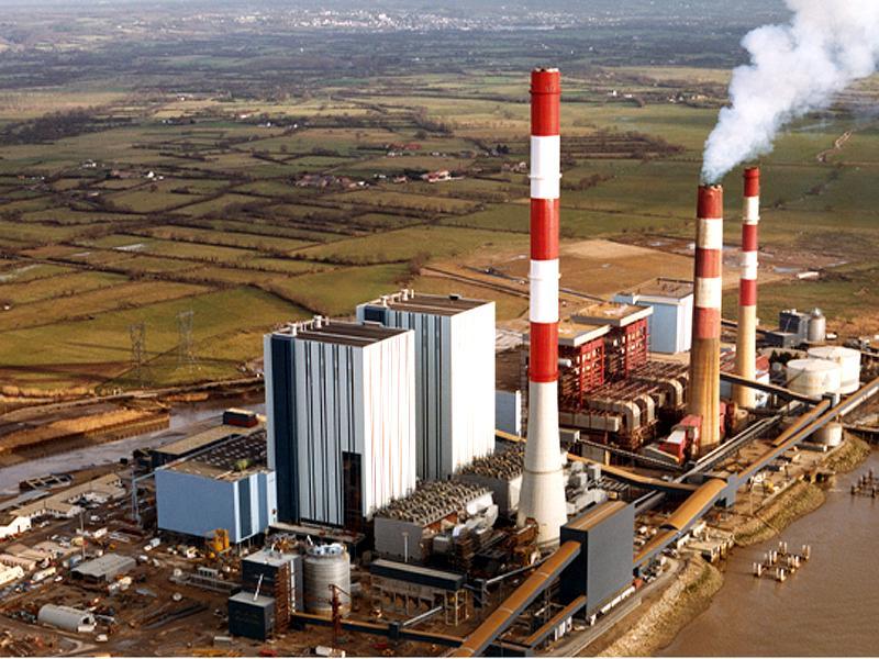 cheminee d'une centrale thermique