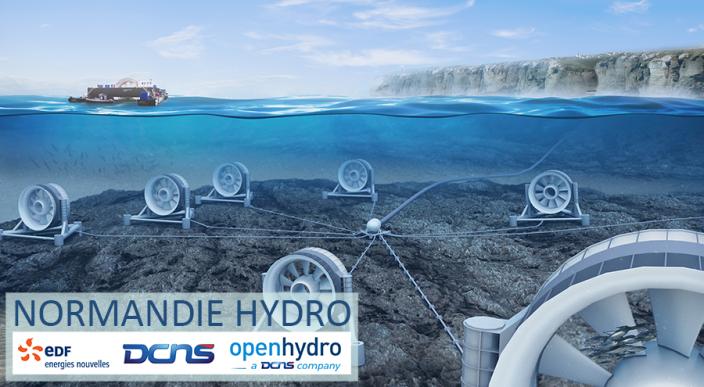 Ferme d'hydroliennes Normandie Hydro