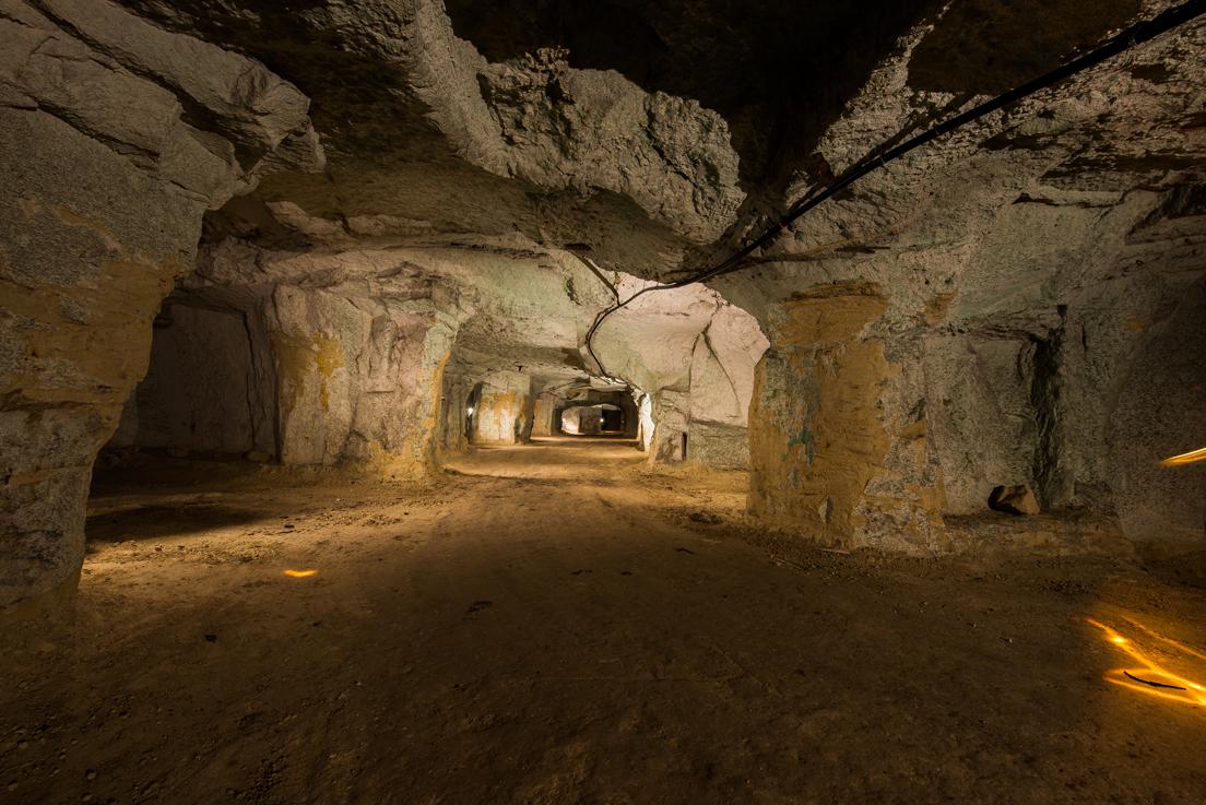 Galeries souterraines, anciennes carrières de tuffeau dans le Val de Loire