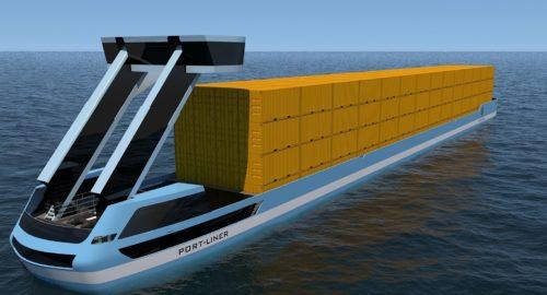Port Liner développe un porte-conteneur à propulsion électrique