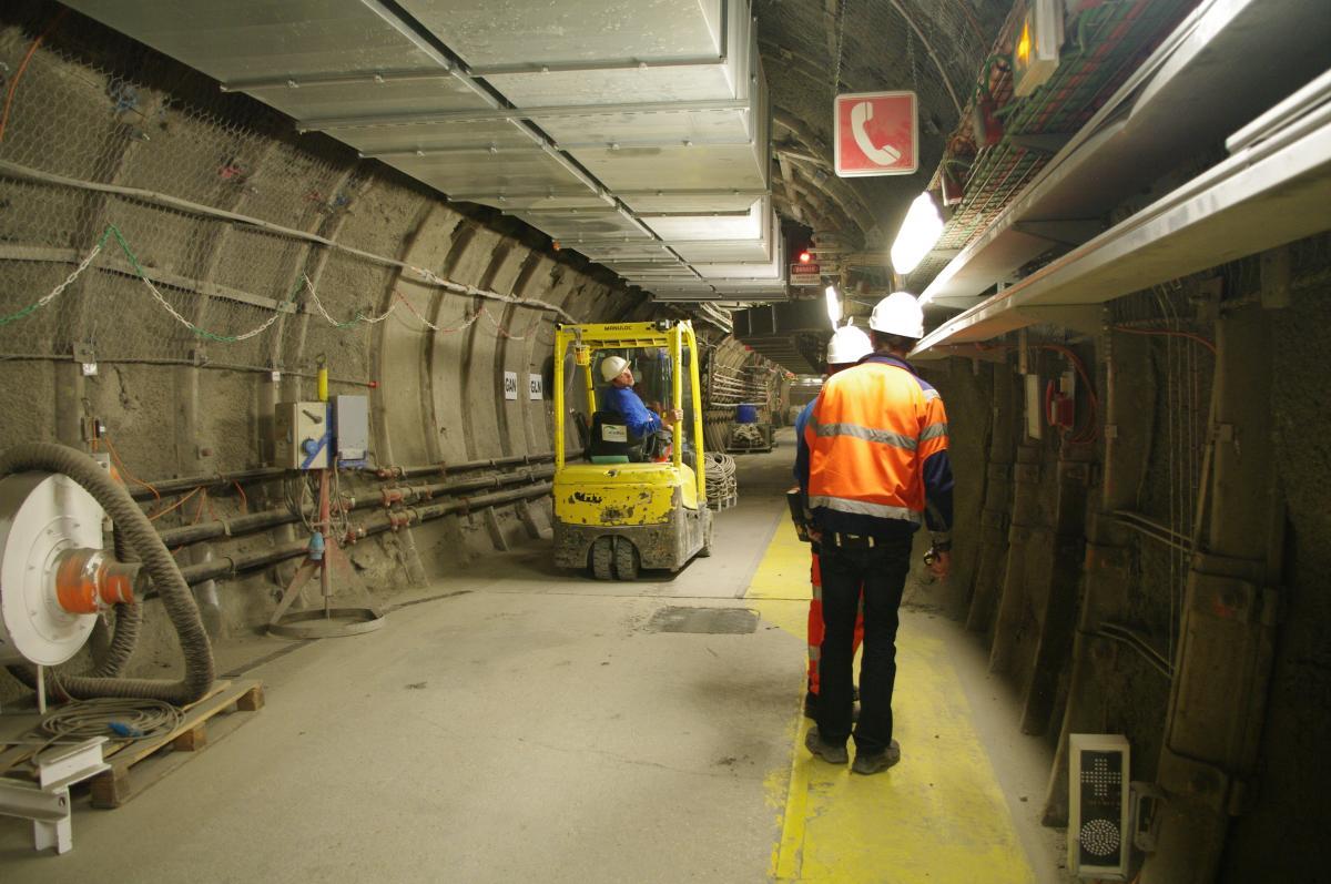 Circulation dans les tunnels de Cigéo