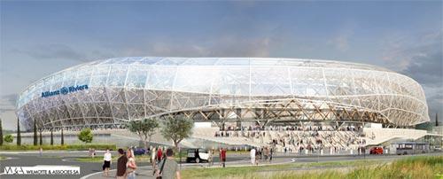 nice panneaux solaires sur le futur stade de football l 39 energeek. Black Bedroom Furniture Sets. Home Design Ideas