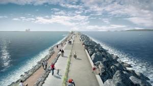 Visuel artistique du projet - Tidal Lagoon Power