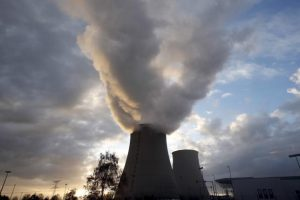 File photo of steam rising at sunset from the cooling towers of the Electricite de France (EDF) nuclear power station at Nogent-Sur-Seine