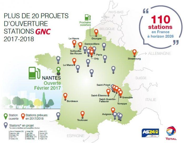 carte station hydrogene france Le Gaz naturel pour véhicules se développe en France   L'EnerGeek