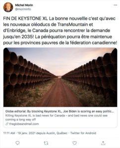 etats-unis canada keystone xl oleoduc discorde - L'Energeek