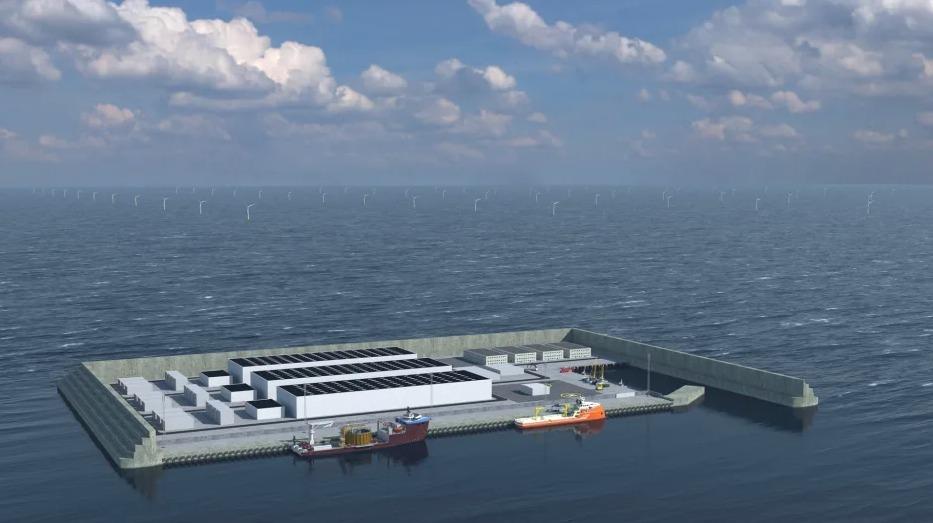 danemark ile artificielle parc eolien mer - L'Energeek